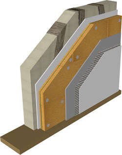 Internal wall insulation - Pavatex